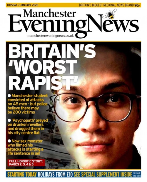 Worst rapist MEN headline Jan 2020